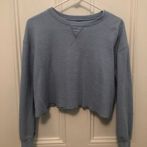 Brandy Melville Thermal Cropped Shirt